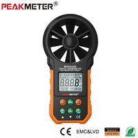 Kỹ thuật số Máy Đo Gió Air Nhiệt Độ Độ Ẩm Meter PEAKMETER MS6252B với RH Cổng USB