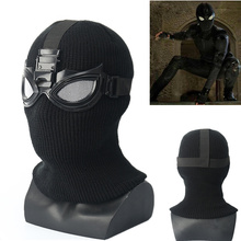 Spiderman Far From Home Stealth Suit Superhero Cosplay Accessories Full Head Mask Props Helmet For Halloween Party