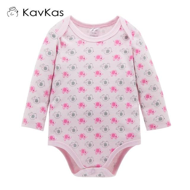 d83291561b77 KAVKAS Baby Rompers Suit Spring Autumn Girls Cute Animal Elephant ...