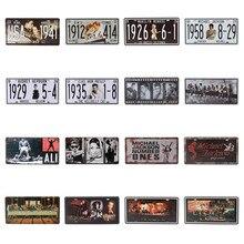 цена на Wall Decor Music Retro Plaques Elvis Presley Ali Movie Celebrity Vintage Metal Tin Signs Decoration Plates Bar Pub 15X30CM C21