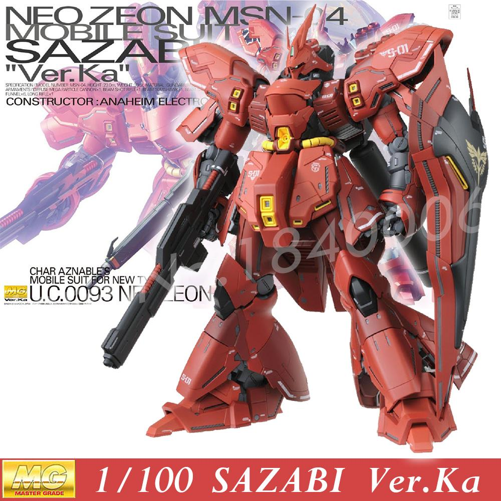Daban Model Gundam MG NEO ZEON MSN-04 SAZABI Version Ka Retail Model Red Amour 1/100 Ver.KA Action Figure Assembled Robots Toys