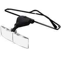 Loupe de tête Loupe de lecture Loupe de réparation des yeux lumière LED 1.5/2.5/3.5 avec 3 pc lunettes Loupe lentille optique