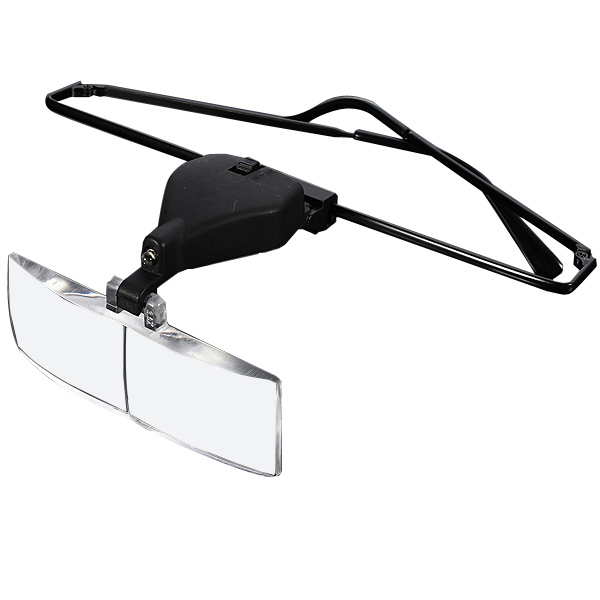 Headhold Magnifier Magnifying Glass Reading Eye Repair Magnifier LED Light 1.5/2.5/3.5 With 3pc Glasses Loupe Optical Lens