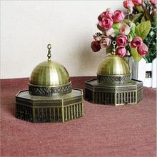 2018 New Israel Jerusalem Dome Mosque Bronze Figurine Souvenirs Gift Famous Architectural Statue Home Decoration Crafts jerusalem israel petra and sinal