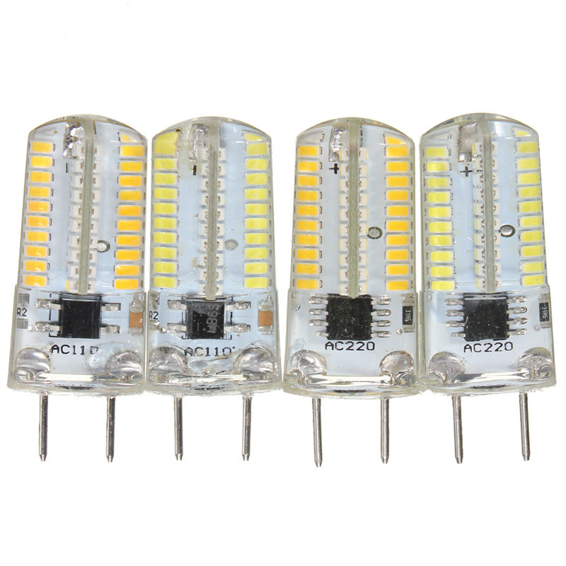 3014 SMD 80 LED Light Bulb G8 2pin 3W Dimmable Silicone Energy Saving Lamp Spotlight Bulb Warm Pure White Lighting AC 110V/220V