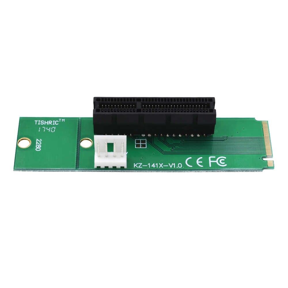 Tishic NGFF SSD M2 M2 a Pci e Pci-e Pci Express 4x 1x adaptador de ranura para minería extensor multiplicador para Btc Miner