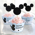 Free Shipping Mickey Mouse cupcakes wrappers toppers birthday party decoration boy baby shower supplies Mikey cake cup picks
