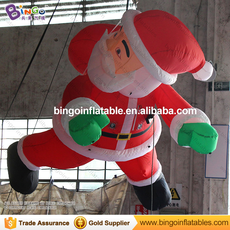 Free shipping 3 meters inflatable hanging santa claus hot sale blow up christmas santa for decoration toys 5m high big inflatable christmas santa claus climbing wall decoration 16ft high china factory direct sale festival toy