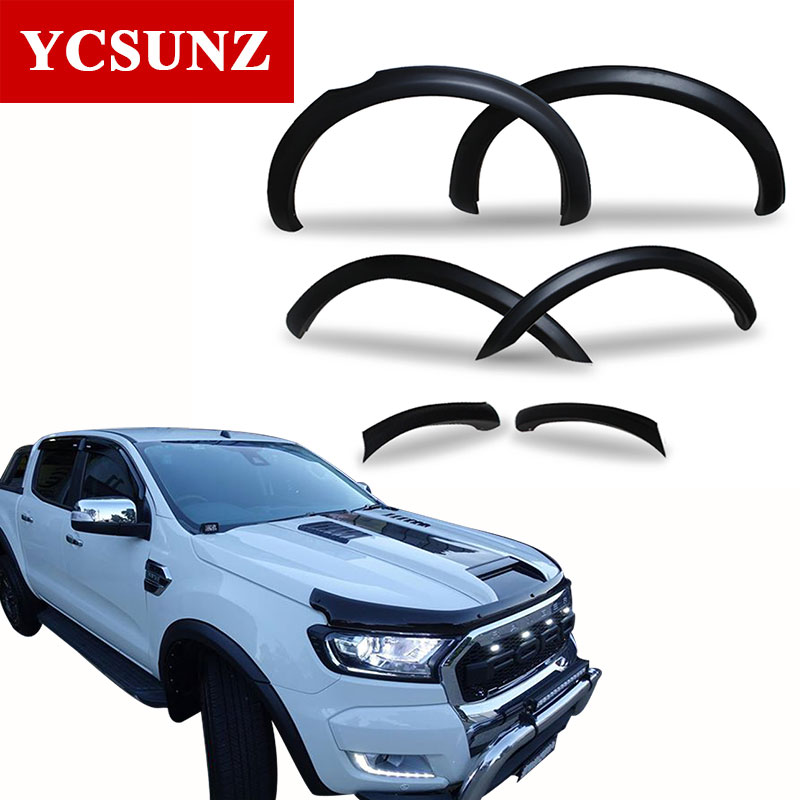 fender flares for ford ranger 2017 wildtrak accessories mudguards for ford ranger 2016 t7 car. Black Bedroom Furniture Sets. Home Design Ideas