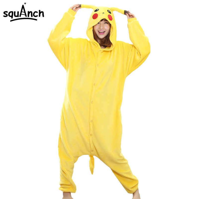 e05d856b3757 Fashion Women Onesie Pikachu Pajama Adult Costume Lovely Funny Party  Festival Jumpsuit Outfit Disguise Winter Sleep