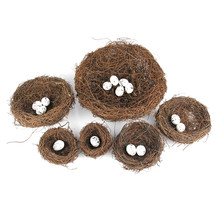 Micro Artificial Birds Nest Simulation Eggs Model Fairy Garden Decoration Miniature Figurine Toys Crafts DIY Accessories(China)