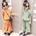 fashion kids clothes girls clothing sets 2016 spring baby girl tracksuit long sleeve t shirt tops + loose pants 2pcs sport suit
