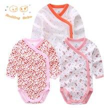 Sourire bébé 3 pcs/lot combinaisons de bébé de mode infantile salopette à manches longues bébé clothing ensemble d'été de noël bébé fille vêtements