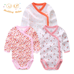 Smiling Babe 3 PCS/lot Fashion Baby Bodysuits Infant Jumpsuit Long Sleeve Baby Clothing Set Summer Christmas Baby Girl Clothes