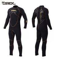 5MM Fleece Lining One piece Men Winter Wetsuit Neoprene Diving Suit for Spearfishing Snorkeling Surfing Triathlon