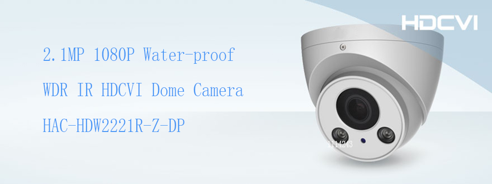 Free Shipping DAHUA CCTV Camera 2MP Water-proof WDR IR HDCVI Dome Camera Security Camera IP67 Without Logo HAC-HDW2221R-Z-DP dh hac hfw2221r z ire6 dahua original hd 1080p infrared night vision security camera ip67 audio cctv camera hac hfw2221r z ire6