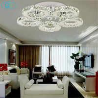 AC100 240V 40 W LED luces de techo cristal 5 luces lustres dormitorio moderno salón comedor luces led accesorios iluminación