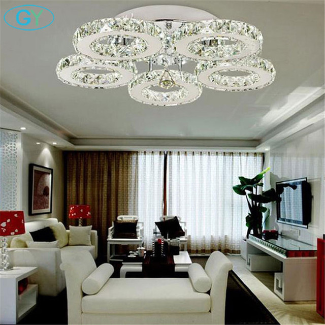 Ac100 240v 40w Led Ceiling Lights Crystal 5 Light Res Modern Bedroom Living Room Dining