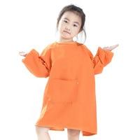 Детская дышащая одежда из полиэстера; детская одежда с длинными рукавами; фартуки с рукавами; одежда с рисунком