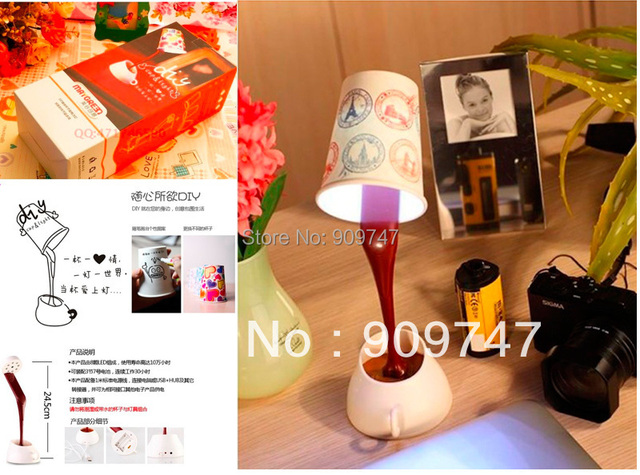 cute DIY LED Night Lamp Table lamps Home Decoration Romantic Coffee Usb Battery Promotion Christmas Gifts lamps free shipping