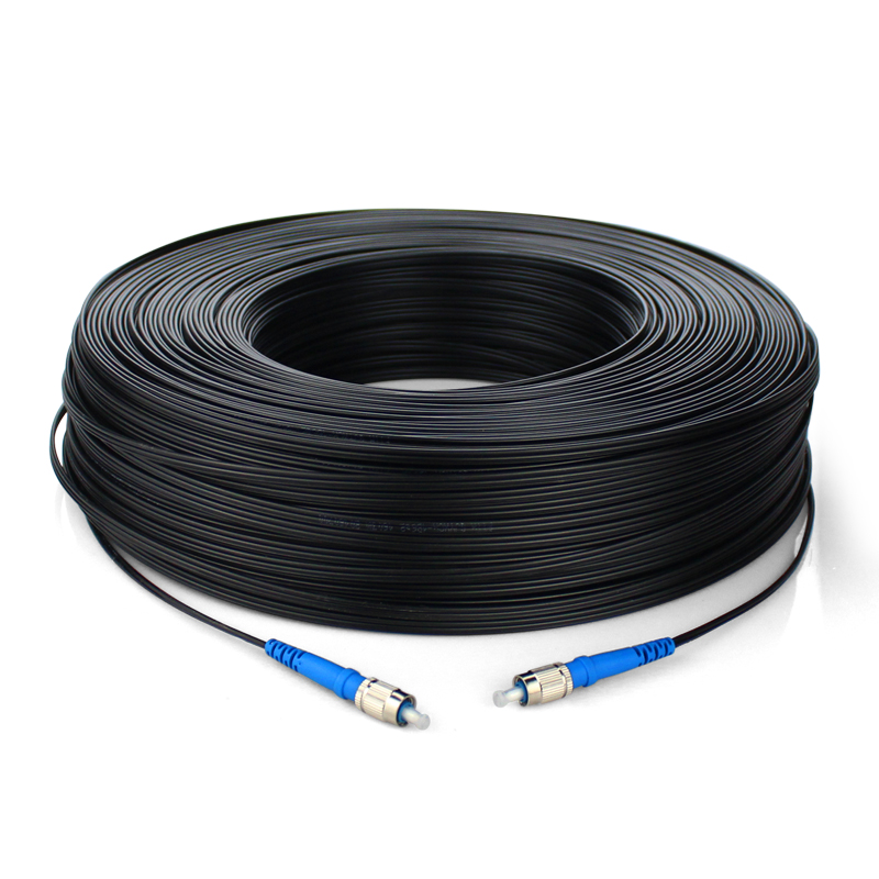 100M FTTH Fiber Optic Drop Cable Patch Cord FC To FC Simplex SM FC-FC 100 Meters Drop Cable Patch Cord