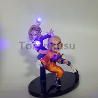 Dragon Ball Z Krillin Android 18 Led Lighting Fighting Together Anime Dragon Ball Z DBZ Lazuli Collectible Model Toy Figurine