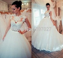 Ball Gown Vestido De Novias Elegant Sweep Train Tulle Long Women Wedding Dresses Made In China