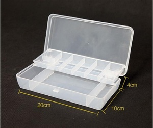 Image 2 - Double layer Fishing accessory box 20*10*4cm Multifunctional Plastic Fishing Lure Bait Hooks Tackle multi Compartments pesca
