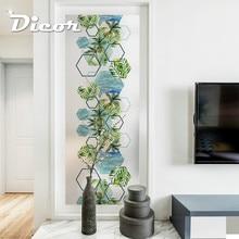 купить Free Customized Stained Static cling Window Film Frosted Privacy Sticker Home Decor Digital print BLT1264 coconut Paim Trees по цене 515.84 рублей