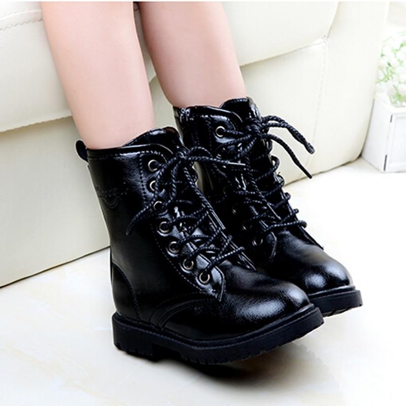 Spring Autumn Fashion Children Shoes Girls Bota Menina Waterproof leather kids  boots Rain Children Girl Boots 28cd75b81827