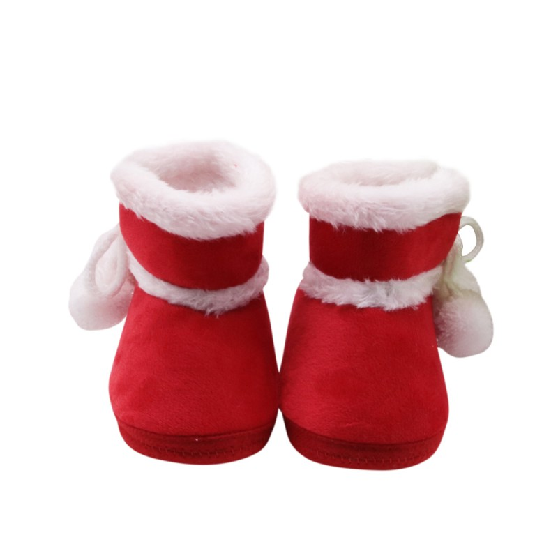 First Walkers Baby Ankle Snow Boots Infant Fleece Stitched Baby Shoes For Boys Girls Christmas Gifts