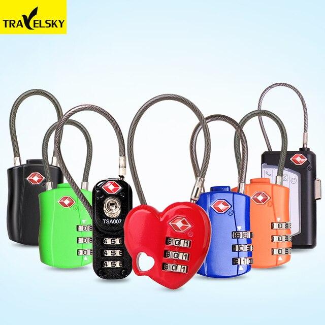Travel TSA Custom Password Lock Solid Wire Rope Bag Suitcase Lock ...