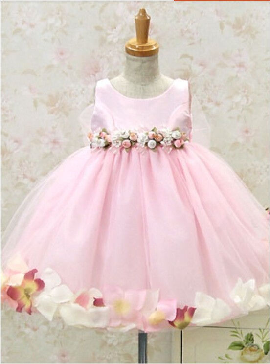 facf7445f6e2 Luxury Rose Decoration Flower Girl Dresses Children Dresses Kids For  Wedding Party Dress Baby Girls Dresses-in Dresses from Mother   Kids on  Aliexpress.com ...