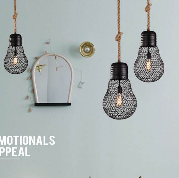 American Pastoral Vintage Iron Pendant Lights rope old coffee bar and restaurant of creative personality Pendant lamps ya72825 american industrial hemp rope iron crystal pendant lights creative personality living room coffee shop 75cm retro pendant lamps