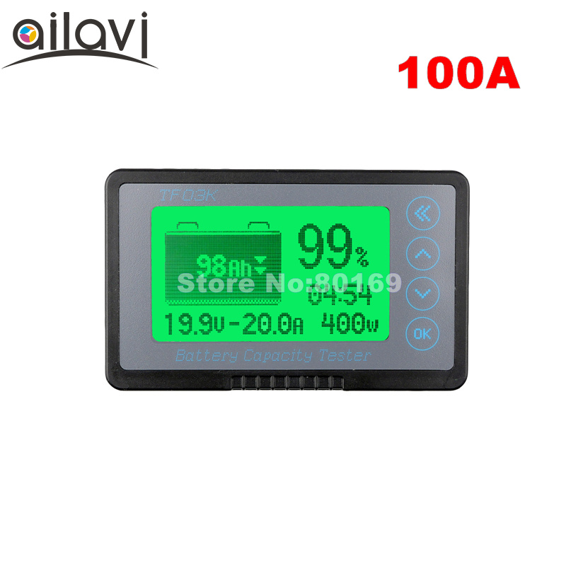 TF03K 12-72V 100A Coulometer Coulomb Counter Professional Vehicle Battery Capacity Tester Voltage Current DC Display 50v 100a precise real capacity tester coulomb counter coulometer for lifepo4 lithium lipo liion battery 12000761