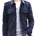 New arrival 2016 men's clothing two colours vintage pig skin leather jacket