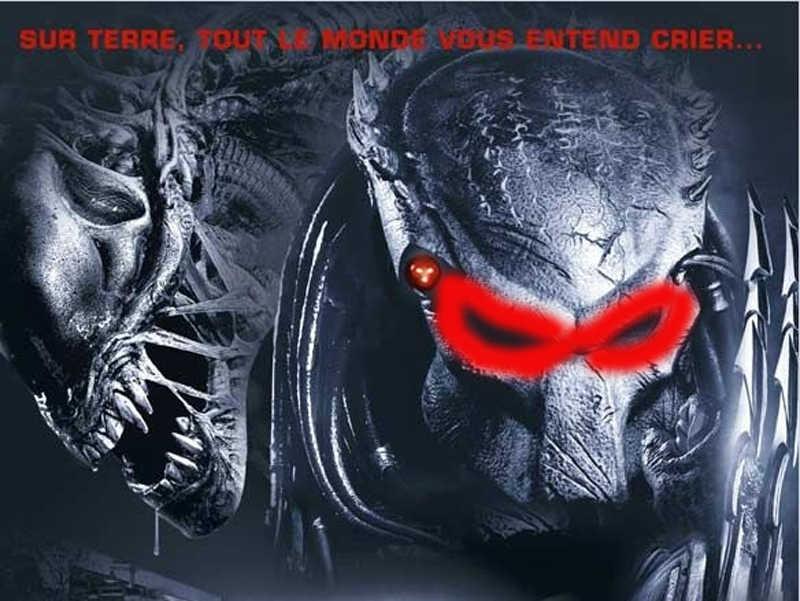 Nuovo Qualità Sfera di Costume Aliens Vs Predator AVPR Rosso Maschera per Gli Occhi Del Partito di Travestimento di Halloween di Ballo di Compleanno