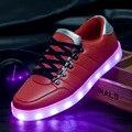 2016 Новое Поступление Света Обувь Мужчин Повседневная Led Световой Glow Качество Дышащая Плоским Моды Usb Zapatillas Chaussure Con Luces