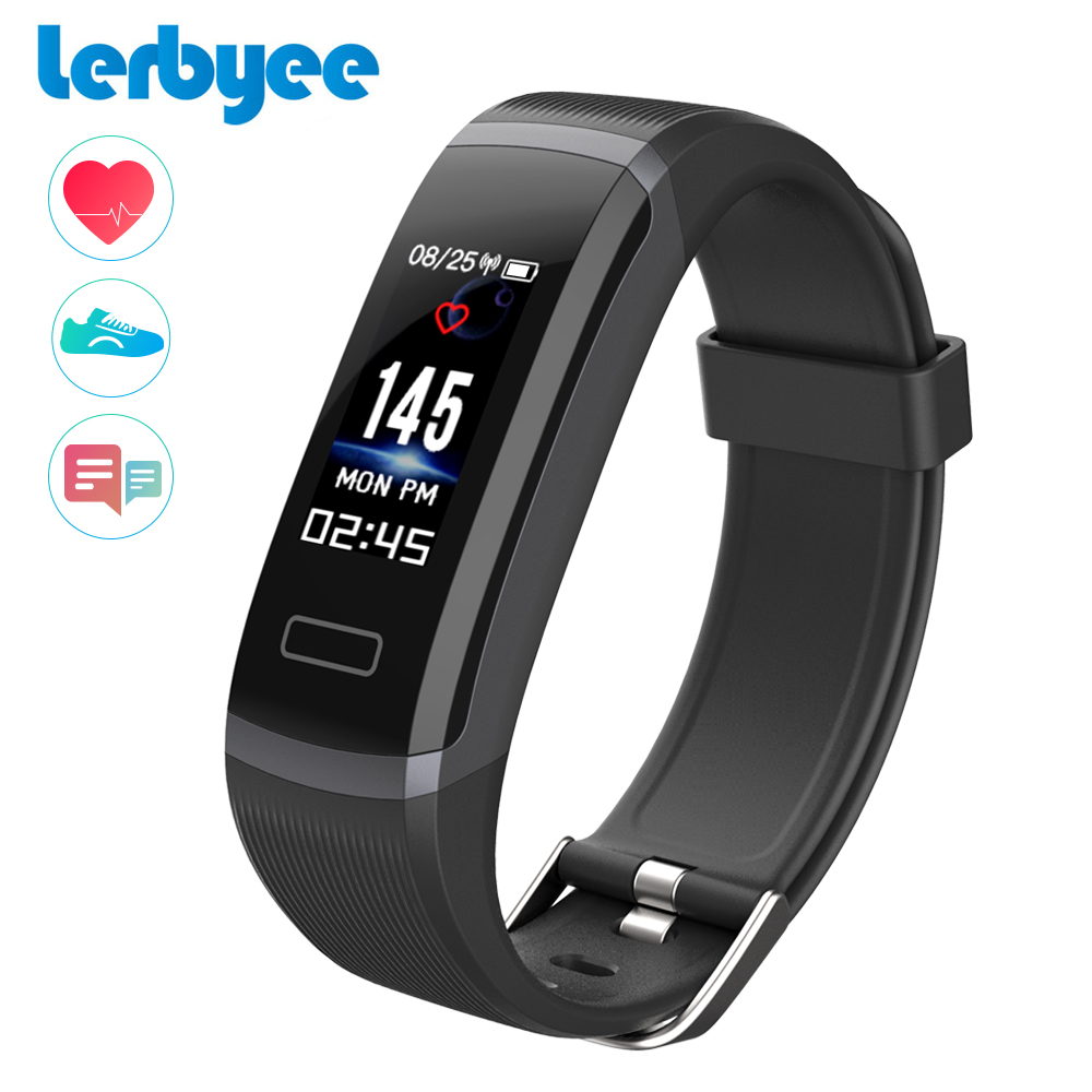 LERBYEE Color Screen Smart Bracelet GT101 Waterproof Heart Rate Monitor Fitness Tracker Bluetooth Smart Watch Call Reminder New