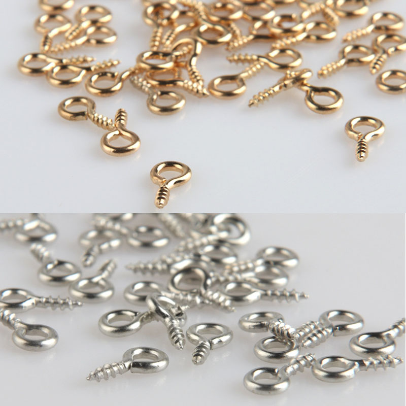 100pcs/lot Jewelry Accessories Claw Nails Alloy Metal Material 4MM Diameter Rhodium Plating Pendant Making Department цена