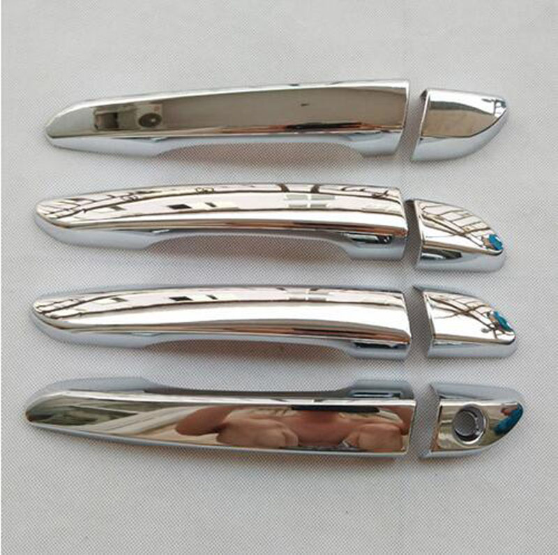 Door Handle Cover For Hyundai Tucson Tl 2015 2016 2017  Abs Chrome Decoration Car Styling Stickers Auto Accessories 4 pcs chrome plated abs door handle bowl for nissan qashqai
