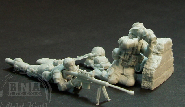 DIY TOYS Resin 1/ 35 Moden american  Sniper Team  include 2 soldiers     Unpainted Kit Resin Model Free Shipping
