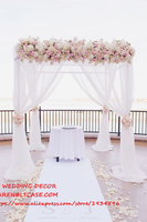 Регулируемый 3*3*3 м квадратный двойной трубы перекладину свадебной окантовкой, трубы и простыня свадебная АРКА, хупы, фон стенд