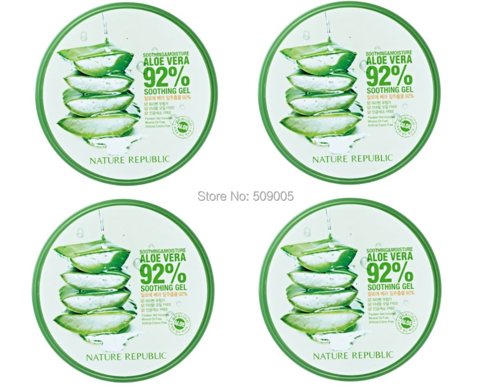 Nature republic soothing and moisture aloe vera 92 soothing gel 300ml - Free Shipping 4pcs Lot Nature Republic Aloe Vera 92 Soothing Moisture Soothing Gel 300ml Korean Personal Face Skincare In Day Creams Moisturizers From