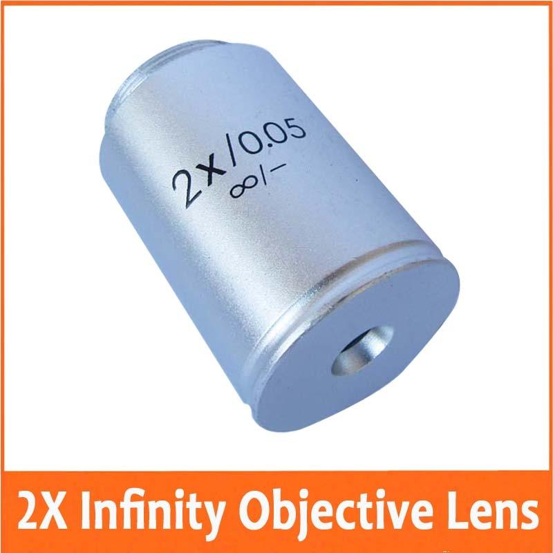 2x 195 Infinity Biological Microscope Objective Lens Achromatic Objective Microscope part  цены