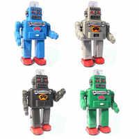 Trang trí nội thất Cổ Điển Rabot Mô Hình đồ chơi Thiếc Cổ Điển Clockwork Gió Up Điện phun robot Tin Đồ Chơi Cho Trẻ Em Sưu Tập Quà Tặng