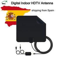 HDTV 안테나 초박형 1080 마력 50 마일 범위 증폭 분리 신호 증폭기