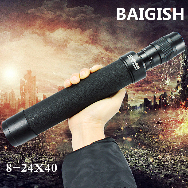 Russian telescope Baigish 8-24X40 military powerful monocular spotting scope high times Astronomical telescopes with tripod Free jiehe high quality cf350 60mm monocular space astronomical telescope with tripod powerful zoom monouclar telescope high times