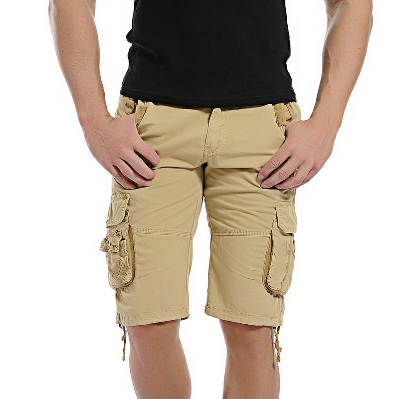 New Fashion Camouflage Cargo Shorts Cotton Casual Men Short Pants Camo Men Camo Shorts Drop Shipping ABZ147