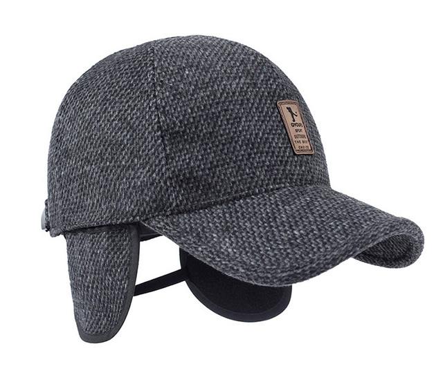 918fb450624 Woolen Knitted Design Winter Baseball Cap Men Thicken Warm Hats with  Earflaps Z-5000